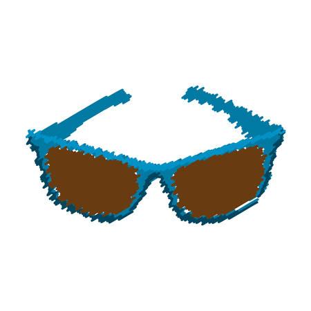 eyewear fashion: sunglasses modern style drawing isolated icon vector illustration design Illustration