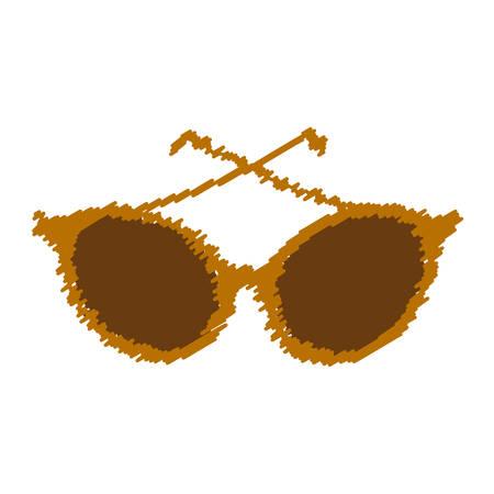 sunglasses modern style drawing isolated icon vector illustration design Illustration