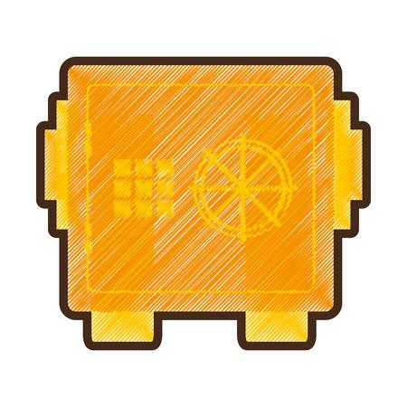 safe money box isolated icon vector illustration design Illustration