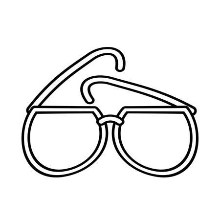 glamur: outline sunglasses fashionable beach sunny vector illustration eps 10 Illustration