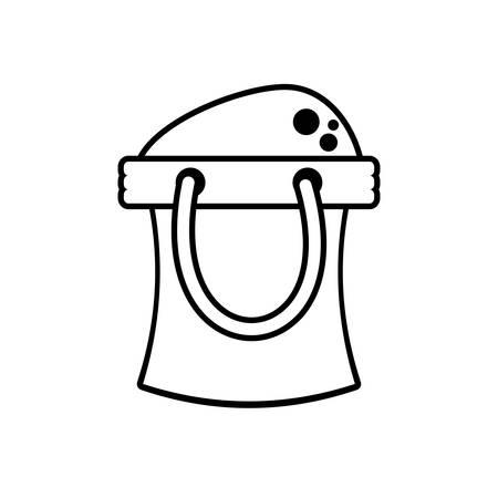 outline bucket sand toy beach vector illustration eps 10