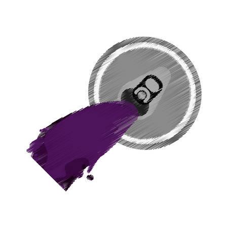 cola canette: Ouvre-violet peut soda bière icône illustration vectorielle eps 10