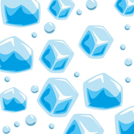 refrigerate: wallpaper ice cubes solid bubbles seamless pattern vector illustration eps 10