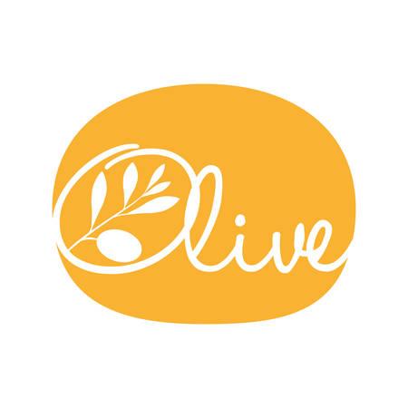 olive oil label yellow design vector illustration eps 10 Illustration