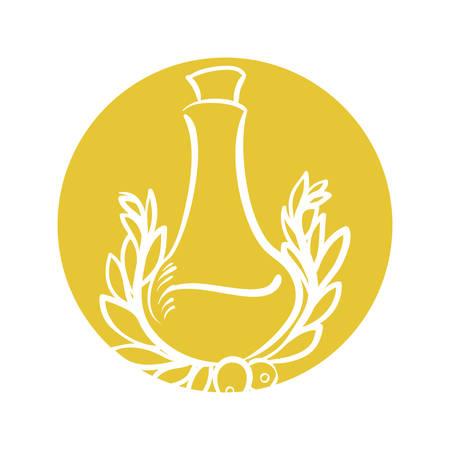 bottle olive oil emblem label vector illustration eps 10