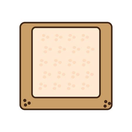 halved: cartoon halved bread breakfast design vector illustration eps 10
