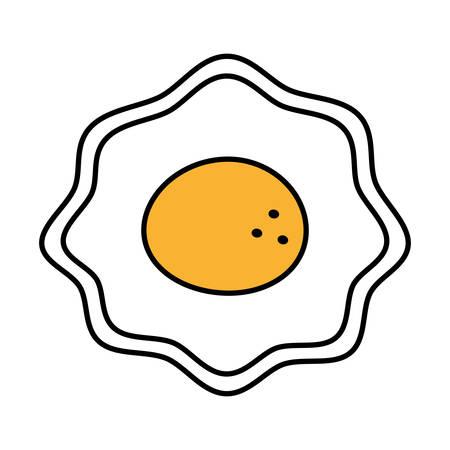 fried egg nutrition breakfast design shadow vector illustration eps 10