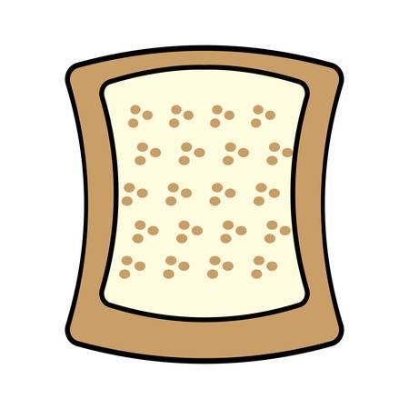 halved: halved bread bakery breakfast design vector illustration eps 10