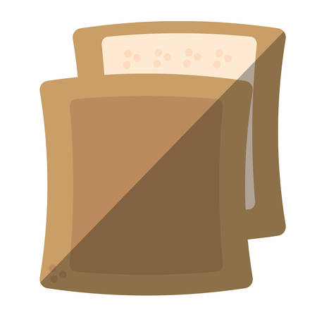 halved: halved bread bakery breakfast design shadow vector illustration eps 10