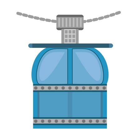 ropeway cabine gondola vacation travel vector illustration eps 10