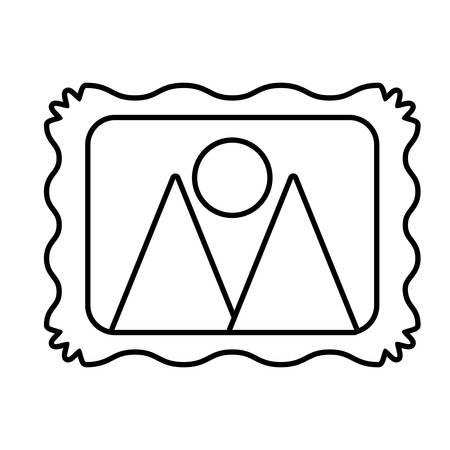 outline picture image photo travel frame design vector illustration eps 10