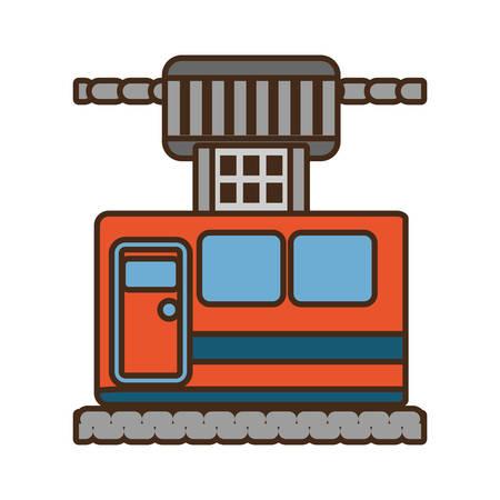 cable way cabine gondola vacation travel vector illustration eps 10