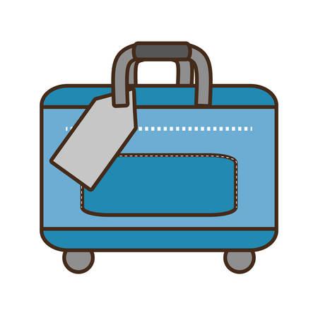 traveler: blue bag packback traveler vector illustration eps 10