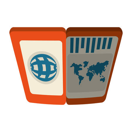 foreign nation: passport immigration document id shadow vector illustration eps 10