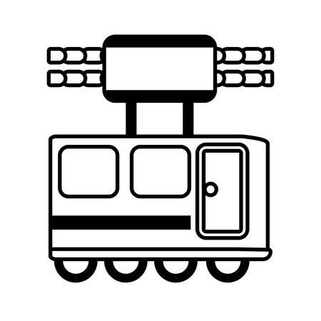 outline railway cabine travel transport vector illustration eps 10 Ilustração