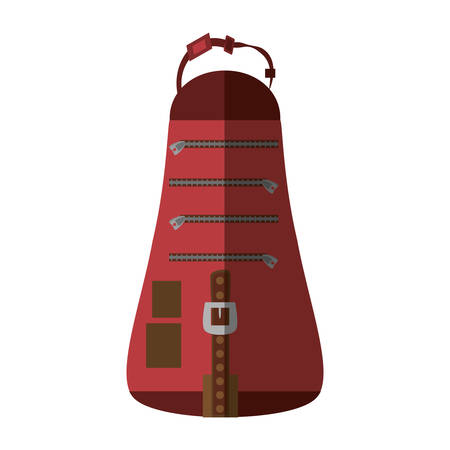 packback travel bag tourist shadow vector illustration eps 10 Illustration