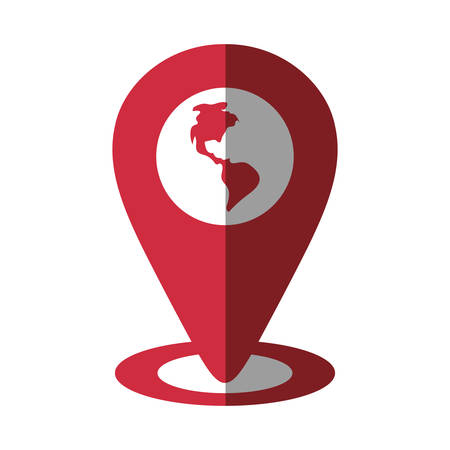 pointer globe map location continent shadow vector illustration eps 10