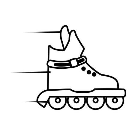 shoelaces: roller skate sport healthy icon vector illustration eps 10