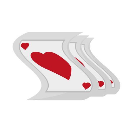 pocker playing card magician vector illustration eps 10