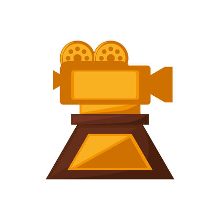 camera film trophy awards goldvector illustration eps 10