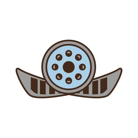 cartoon reel film movie wheel icon vector illustration eps 10 Illustration