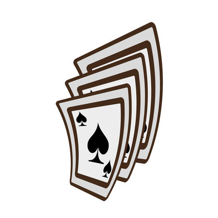 ace of spades: ace spades magician show vector illustration eps 10 Illustration
