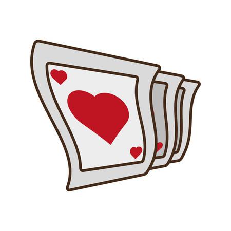 cartoon pocker playing card magician vector illustration eps 10