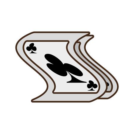 cartoon pocker magic trick show vector illustration eps 10