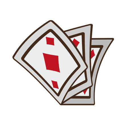 cartoon ace pocker magic vector illustration eps 10 Illustration