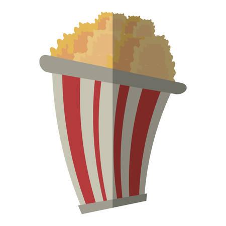 pop corn: bucket pop corn cinema graphic shadow vector illustration eps 10