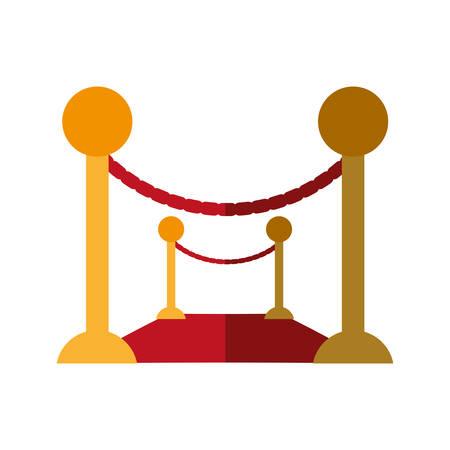 stanchion: barrier rope event carpet shadow vector illustration eps 10 Illustration