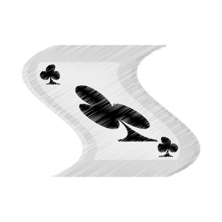 top class: poker playing magician drawing vector illustration eps 10