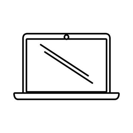electronic gadget: laptop technology electronic gadget outline vector illustration eps 10