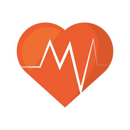 heart rate montoring pulse health sport vector illustration eps 10