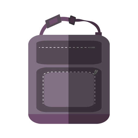 purple backpack hike traveler shadow shadow vector illustration eps 10
