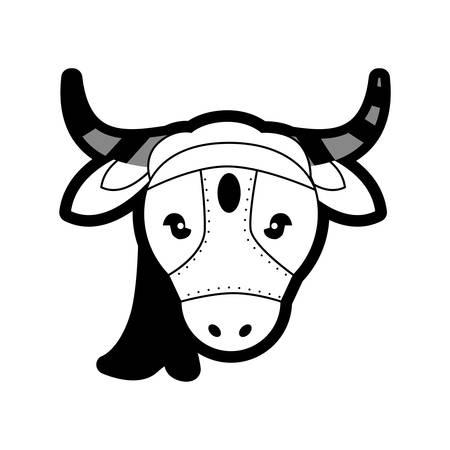portrait sacred animal cow india vector illustration eps 10