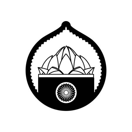 lotos: stamp lotus flower indian culture vector illustration eps 10