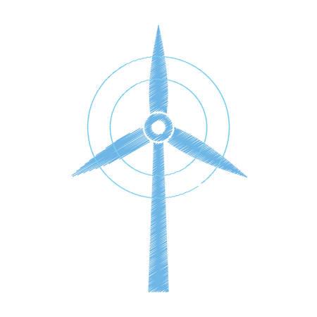 Wind turbine green energy icon vector illustration graphic design