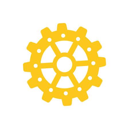 gear cog wheel icon vector illustration graphic design