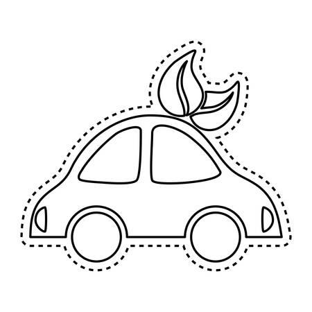 electric car symbol icon vector illustration graphic design