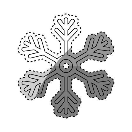 snowflake winter snow icon vector illustration graphic design Illustration