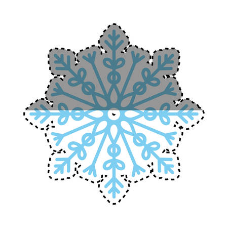 cold cuts: snowflake winter snow icon vector illustration graphic design Illustration
