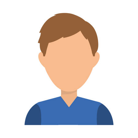 faceless: Faceless man character icon vector illustration graphic design