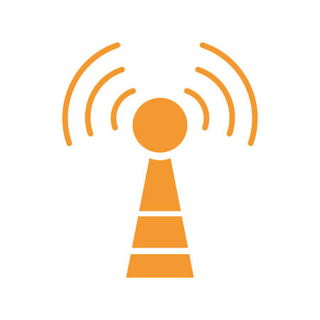 antenna communication technology icon vector illustration graphic design