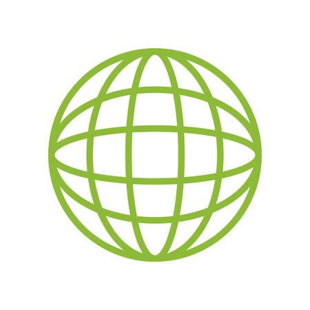 diseño gráfico de la esfera global símbolo ilustración vectorial