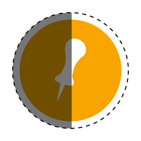 push pin thumbtack icon vector illustration graphic design Illustration