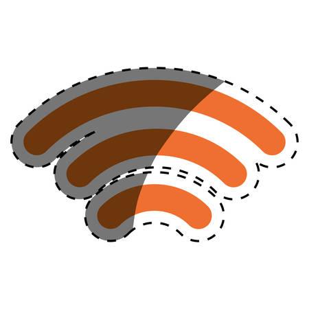 antenna communication technology icon vector illustration graphic design