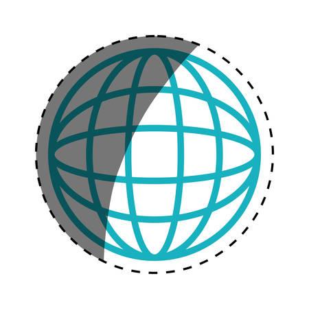 meridiano: global sphere symbol icon vector illustration graphic design