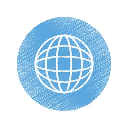meridiano: esfera símbolo icónico ilustración mundial vector de diseño gráfico Vectores