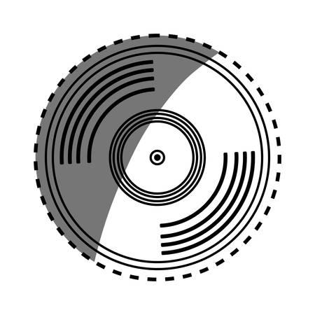 vinyl vintage record icon vector illustration graphic design